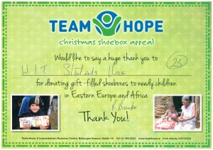 Team hope Christmas Appeal