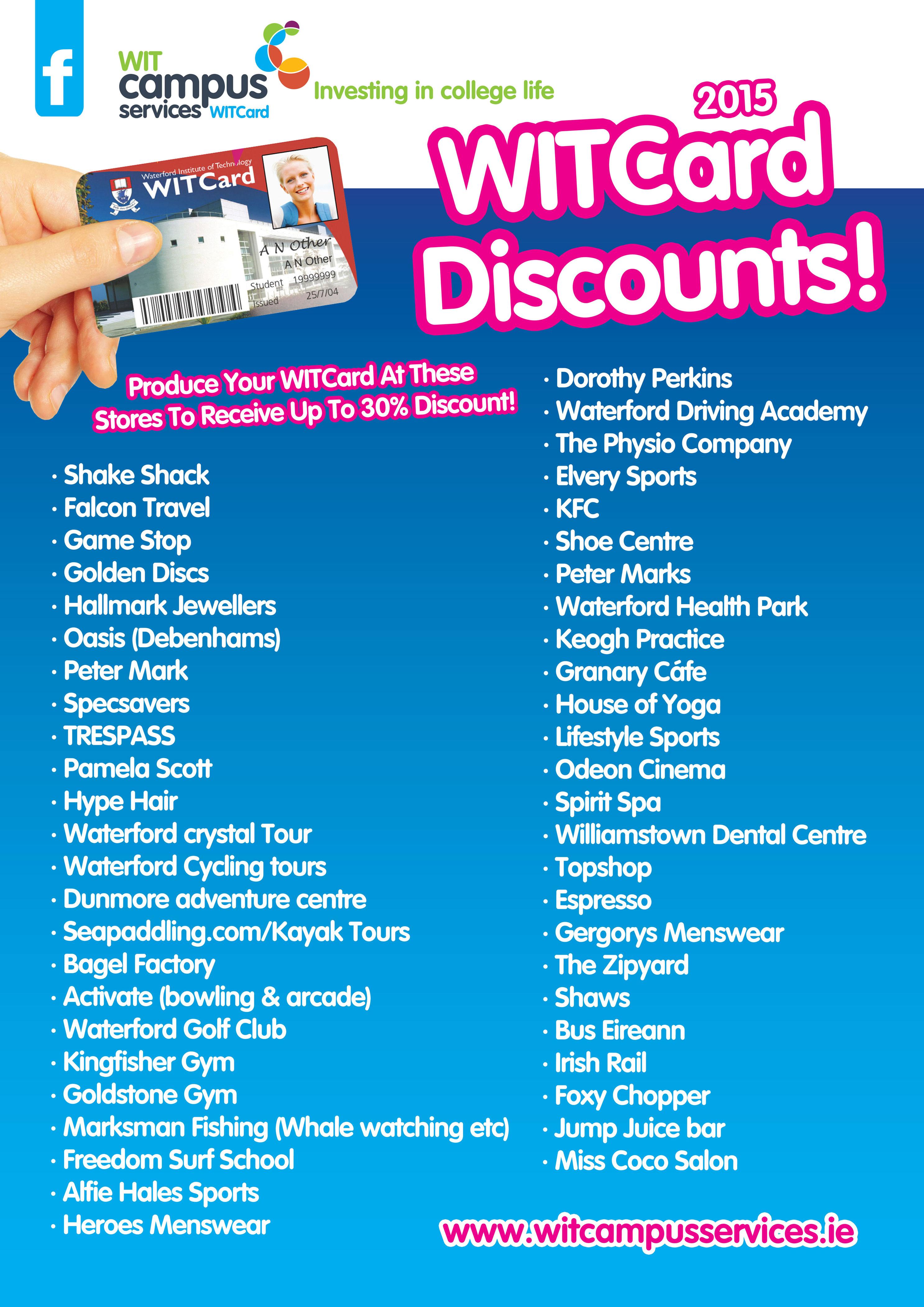 student discounts witsu